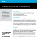 Server Security Data Sheet