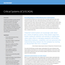 Solution Brief: Critical Systems (ICS/SCADA)