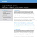 Solution Brief: Endpoint Threat Detection