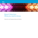 eBook: Breach Detection: What You Need to Know