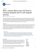 Bit9 + Carbon Black buys VisiTrend to combine analytics and UI with endpoint security