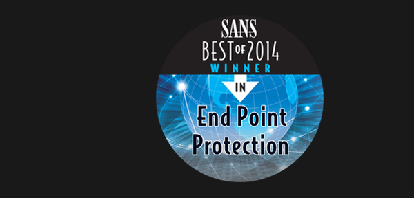 Awarded Best Endpoint Protection