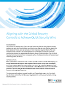 Aligning with the Critical Security Controls to Achieve Quick Security Wins