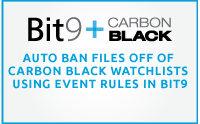 Auto Ban Files Off of Carbon Black Watchlists Using Event Rules in Bit9