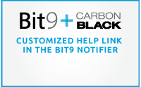 Customized Help Link in the Bit9 Notifier