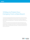10 Ways to Protect Your Company from a Data Breach