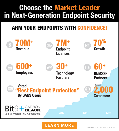 Choose the Market Leader in Advanced Endpoint Threat Prevention, Detection and Response
